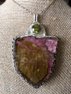 Watermelon Tourmaline Shield Image